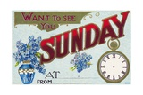 Want to See You Sunday Postcard Giclee Print