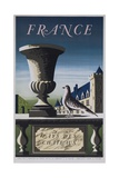 France, Country of Chateau, French Travel Poster Impression giclée