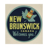 New Brunswick Canada Welcomes You! Travel Decal Giclee Print