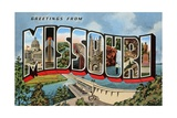 Greetings from Missouri Giclee Print