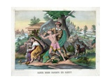 Daniel Boone Protects His Family Giclee Print