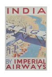 India by Imperial Airways Poster Giclee Print
