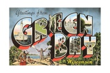 Greetings from Green Bay, Wisconsin Giclee Print