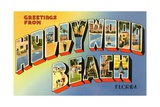 Greetings from Hollywood Beach, Florida Giclee Print