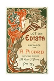 Lotion Edista Cosmetic Label Giclee Print