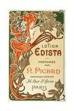 Lotion Edista Cosmetic Label Giclee Print