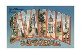 Greetings from Savannah, Georgia Giclee Print