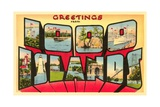 Greetings from 1000 Islands, New York Giclee Print