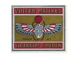 Vulcan Matches Matchbox Labels Giclee Print