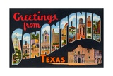 Greetings from San Antonio, Texas Giclee Print