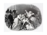 The Last Audience of Louis XVI and His Family Giclee Print