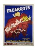 Escargots Menetrel Poster Giclee Print