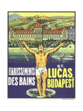 St. Lucas, Budapest Luggage Label Giclee Print