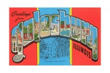 Greetings from Galesburg, Illinois Giclee Print