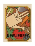 New Jersey Travel Decal Giclee Print
