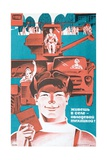 Soviet Mechanisation of Agriculture Poster Giclee Print