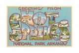 Greetings from Hot Springs National Park, Arkansas Giclée-Druck