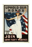 Uphold Our Honor, Join Army-Navy-Marines Poster Giclee Print