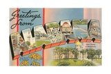 Greetings from Alabama Giclee Print