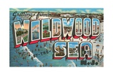 Greetings from Wildwood-By-The-Sea, New Jersey Giclee Print