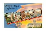 Greetings from Wisconsin Giclee Print