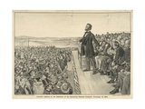 Lincoln's Address at the Dedication of the Gettysburg National Cemetery Reproduction procédé giclée