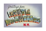 Greetings from White Mountains, New Hampshire Giclee Print