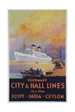 Ellerman's City and Hall Lines Cruise Poster Giclee Print