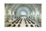 Grand Lobby, Union Station, Washington, D.C. Postcard Giclee Print