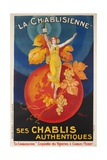 La Chablisienne, Ses Chablis Authentiques, French Wine Poster Impression giclée