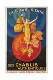 La Chablisienne, Ses Chablis Authentiques, French Wine Poster Giclée-tryk