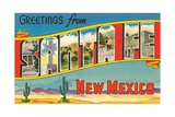 Greetings from Santa Fe, New Mexico Giclee Print