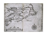 Early 17th-Century Map of the North American Coast from Cape Cod to Newfoundland Giclee Print