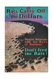 Rats Carry Off the Dollars Giclee Print