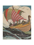 Leif Erickson at Sea Giclee Print