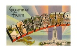 Greetings from Nebraska Giclee Print