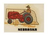 Nebraska Travel Decal Giclee Print