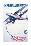 Imperial Airways to Australia Poster Giclee Print