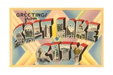 Greetings from Salt Lake City, Utah Giclee Print