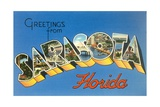 Greetings from Sarasota, Florida Giclee Print