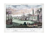 View of Boston Harbor Giclee Print