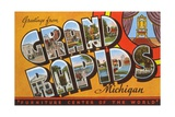 Greetings from Grand Rapids, Michigan, Furniture Center of the World Giclee Print