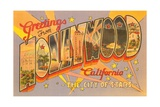 Greetings from Hollywood, California Giclee Print