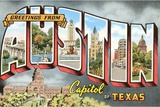 Greetings from Austin, Capitol of Texas Giclee Print