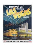 Union Pacific Railroad Las Vegas Travel Poster Giclee Print