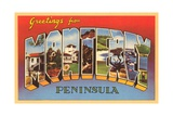 Greetings from Monterey Peninsula, California Giclee Print