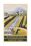 Washington Travel Poster Giclee Print