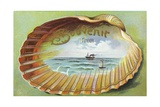 Souvenir from Postcard with Ocean Scene Giclee Print