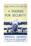 Imperial Airways: 4 Engines for Security Giclee Print