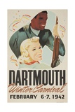 Dartmouth Winter Carnival Poster 1942 Giclee Print